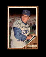 Ron Perranoski Hand Signed 1962 Topps Los Angeles Dodgers Autograph