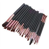 20 Pcs Pro Makeup Set Powder Eyeshadow Eyeliner Lip Cosmetic Foundation Brushes