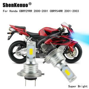 H7 For Honda CBR929RR 2000-2001 CBR954RR 2001-2003 LED Headlight Bulbs Kit 8000K