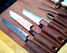 100%Real Leather Knife Roll, Chefs Bag