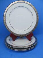 "Noritake Legendary Crestwood Platinum 8 3/8"" Salad Plates Set Of 4 Plates EUC"