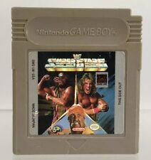 Nintendo Gameboy WWF Superstars Vintage Wrestling Game Tested Works 1991 WWE WCW
