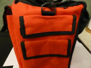 RED CRAFT CADDY HOLDALL  BAG WITH POCKETS AND TRAYS HANDLE AND SHOULDER STRAP