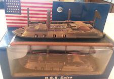 "METAL CIVIL WAR USS CAIRO SHIP FIGURINE 6"" X 2"" REPRODUCTION"