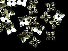100 X Oro Plata Tibetana pequeñas delicada 6mm Casquillas Joyas resultados Y150
