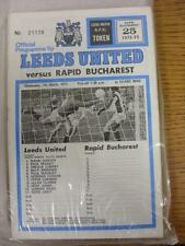 07/03/1973 Leeds United V RAPID BUCAREST [Europeo COPPA DELLE COPPE CUP]. l'oggetto in V