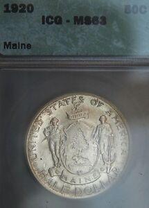 1920 Maine Comm. Half Dollar  ICG MS 63  (B2198)