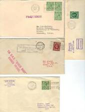 Uk 1936 Four Paquebot Covers Ss Queen Mary,Ss Washingto