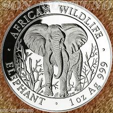 2004 SOMALIAN African Wildlife ELEPHANT 1 OZ Silver BU Coin  FIRST YEAR KEY DATE