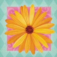 2 Pkgs. Amscan In Bloom PAPER BEVERAGE NAPKINS  IN BLOOM  USA  SALE!