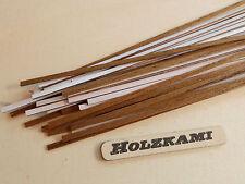 50 Holzleisten Teak  500mm x 1mm bis 5mm x 0.6mm  L/B/H  Selbstklebend  Neu