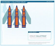 Halo 4 Bulletproof Emblem DLC Skin Preorder Code Microsoft Xbox 360 Bullet Proof