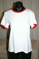 ascolour AS Colour Women's Ringer Tee T-Shirt, White + Red, S, NWT, RRP$26.00