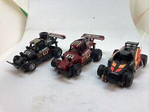 Set Of 3 Vintage Tyco 440x2 HO Scale Turbo Hopper & Aero Hopper Race Slot Cars