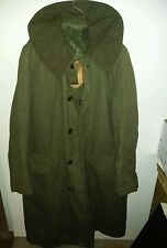 WWII US Army WW2 Overcoat Wool TRENCH COAT Greatcoat 38R Dated 1955 nice