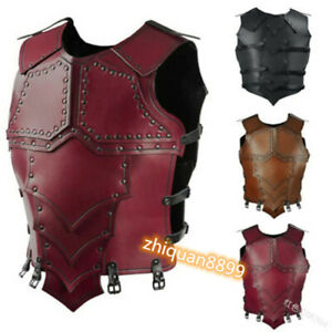Medieval Male Leather Tops Chest Armor Harness Knight Battle Stage Cosplay Props