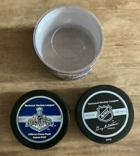 NHL Hockey 2007 Stanley Cup Finals GAME 5 Official Game Puck Bettman