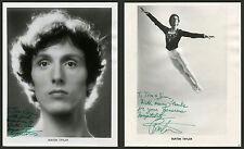 HANDSOME BALLET DANCER BURTON TAYLOR & TWO ORIGINAL SIGNED/INSCRIBED PHOTOS