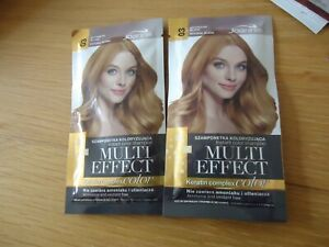 Joanna Multi Effect Temporary Hair Colour Shampoo Dye x 2 Sachets 4-8 Washes Out
