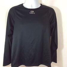 KALENJI Equarea Moisture Wicking Shirt Running Biking Black Long Sleeve Size L