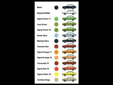 FORD ESCORT MKII RS2000 COLOUR RANGE RETRO POSTER PRINT CLASSIC 80's ADVERT A3