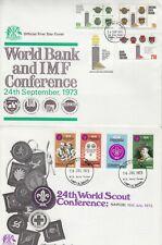 A4337 EIGHT KUTanzania First Day Covers Jan 1969 - July 1974;  Uganda cds