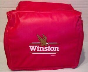 WINSTON Red Nylon 6-Pack Cooler Bag w/Built-In FM Radio & Speaker