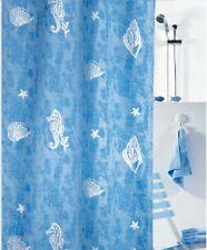 Duschvorhang Poros Acqua - Hell Blau 180 x 200 cm. Hochwertige Textil Markenware
