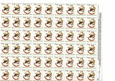 American Lung Association 1981, Full sheet of Cristmas stamps, cinderella stamps