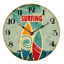 """Reloj de pared 30cm con fijación en Madera Beach Diseño"""" Surf"""" Playa Vintage"""