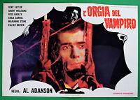 T52 Fotobusta L'Orgie Der Vampir Kent Taylor Grant Williams Reed Hadley RAR 7