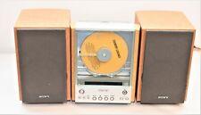 New listing Sony Bookshelf Hi Fi Stereo System Cd Player Hcd Ex1 with Remote > 4.2