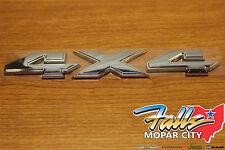 Dodge Mopar Ram Truck Chrome 4X4 Emblem Decal Badge Namplate Bed Box Sticker OE