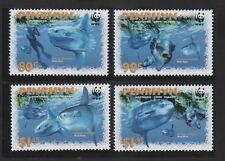 Penrhyn 2003 en peligro de extinción Mola Mola Atalo conjunto de 4 con el logotipo de PANDA WWF estampillada sin montar o nunca montada