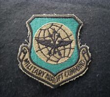 UNITED STATES AIR FORCE USAF MILITARY AIRLIFT COMMAND MILITARY PATCH SUBDUED