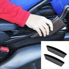 2PCS Black Car Seat Seam Catcher Box Storage Pocket Wallet Key Holder Organizer