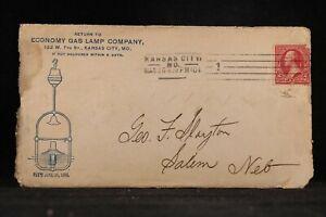 Missouri: Kansas City 1901 Economy Gas Light Advertising Cover + Great Content