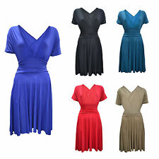 Jersey V-Neck Regular Size Dresses for Women