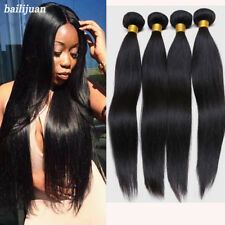 4 Bundles Unprocessed Virgin Brazilian Straight Human Hair Weave Weft Extensions