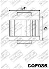 COF085 Filtro De Aceite CHAMPION Peugeot125 Satelis Compresor/blanco-negro