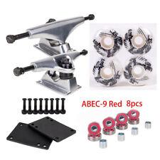 "Skateboard Kit 5.15"" Truck 8"" Axle 52 X 30mm 100A Pro Wheels Bearing Screw Pad"