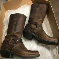 FRYE Harness 12R Tan/Brown Leather Boots Size 5.5 M