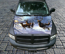 H88 DEER HUNTING Hood Wrap Wraps Decal Sticker Tint Vinyl Image Graphic