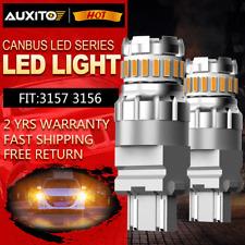 AUXITO 4157 3157 3156 LED Amber Yellow Turn Signal Blinker Corner Light bulb EOB