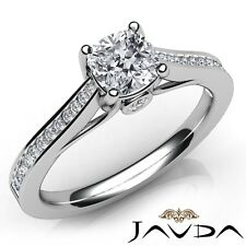 Engagement Ring Gia G-Si1 W Gold 1.2ctw Channel Bezel Prong Set Cushion Diamond