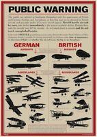 WAR PROPAGANDA VEHICLE IDENTIFICATION ENGLISH TANKS NEW ART PRINT POSTER CC5691
