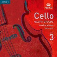 ABRSM Cello Exam Pieces - Complete Syllabus 2010-2015 ( Grade 3 )  CD - NEW