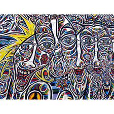 Graffiti Psychedelic Colourful Faces Wall Art Print