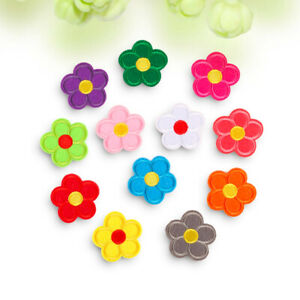 10pcs Flower Embroidery Sew On Iron On Small Patches Badge Fabric Applique Craft