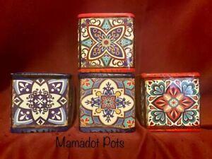 Mosaic Spanish Moroccan Ceramic Planter Pot